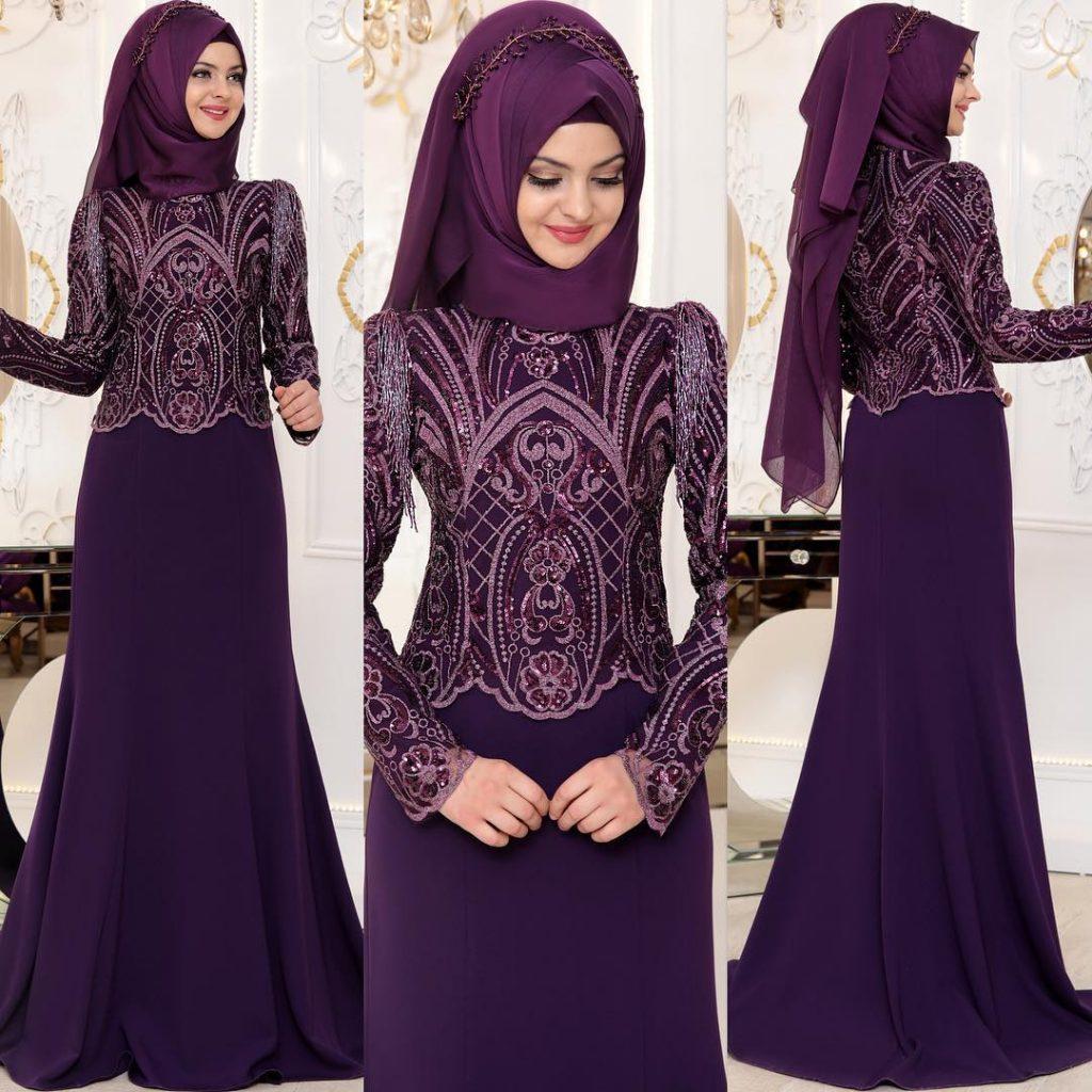 2018 Tesettur Sunnet Annesi Abiye Elbise Modelleri 7