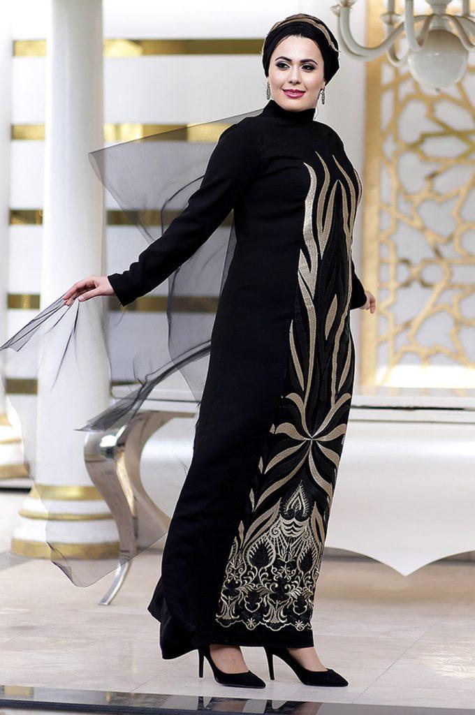 Buyuk Beden Tesettur Giyim Abiye Elbise Modelleri-sultan-siyah-tesettur-abiye