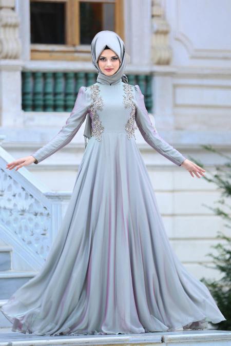 En Guzel Patirti.Com Tesettur Abiye Elbise Modelleri-mint-tesettur-abiye-elbise-mint