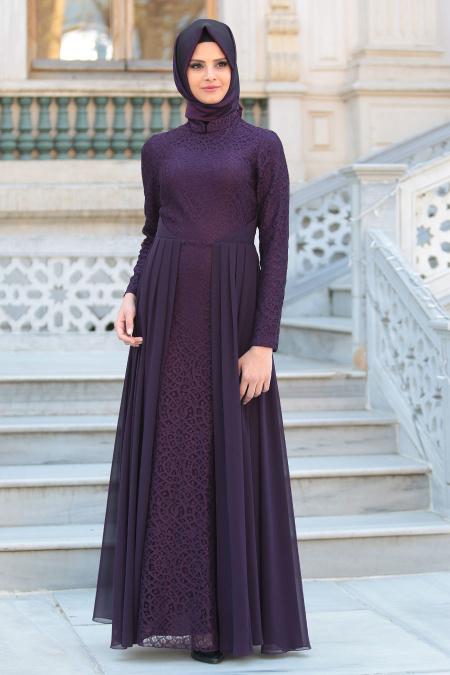 En Guzel Patirti.Com Tesettur Abiye Elbise Modelleri mor tesettur abiye elbise mor - En Güzel Patirti.Com Tesettür Abiye Elbise Modelleri