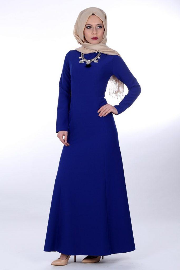 En Guzel Patirti.Com Tesettur Abiye Elbise Modelleri tesettur abiye elbise saks 683x1024 - En Güzel Patirti.Com Tesettür Abiye Elbise Modelleri