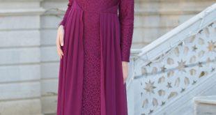 En Guzel Patirti.Com Tesettur Abiye Elbise Modelleri tesetturlu abiye elbise fusya tesettur abiye elbise