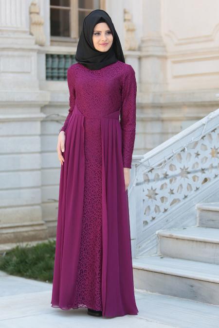 En Guzel Patirti.Com Tesettur Abiye Elbise Modelleri tesetturlu abiye elbise fusya tesettur abiye elbise - En Güzel Patirti.Com Tesettür Abiye Elbise Modelleri