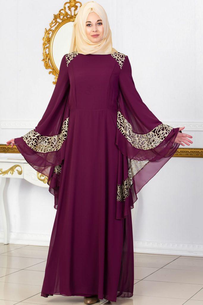 En Guzel Sedanur.com Tesettur Abiye Elbise Modelleri-omuzlari-dantel-detayli-pelerinli-tesettur-abiye-murdum