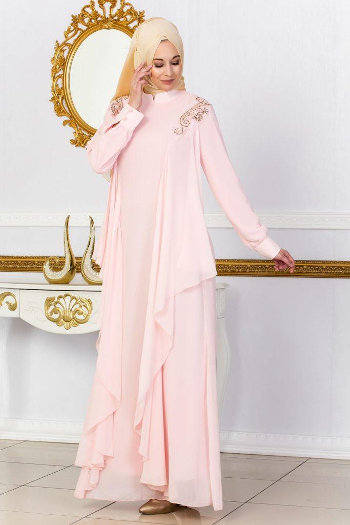 En Guzel Sedanur.com Tesettur Abiye Elbise Modelleri-omuzlari-islemeli-dokumlu-abiye-puddra