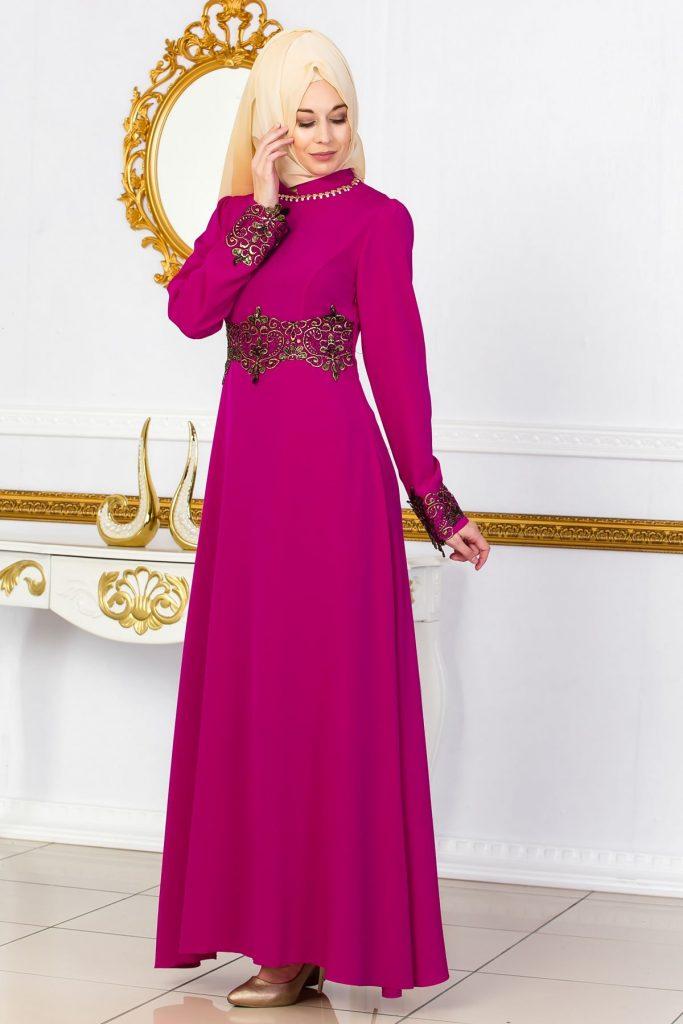 En Guzel Sedanur.com Tesettur Abiye Elbise Modelleri-sedanur-collection-dantel-detayli-murdum-elbise