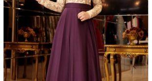 En Sik Tesettur Mezuniyet Abiye Elbise Modelleri pinar sems meyra abiye mor