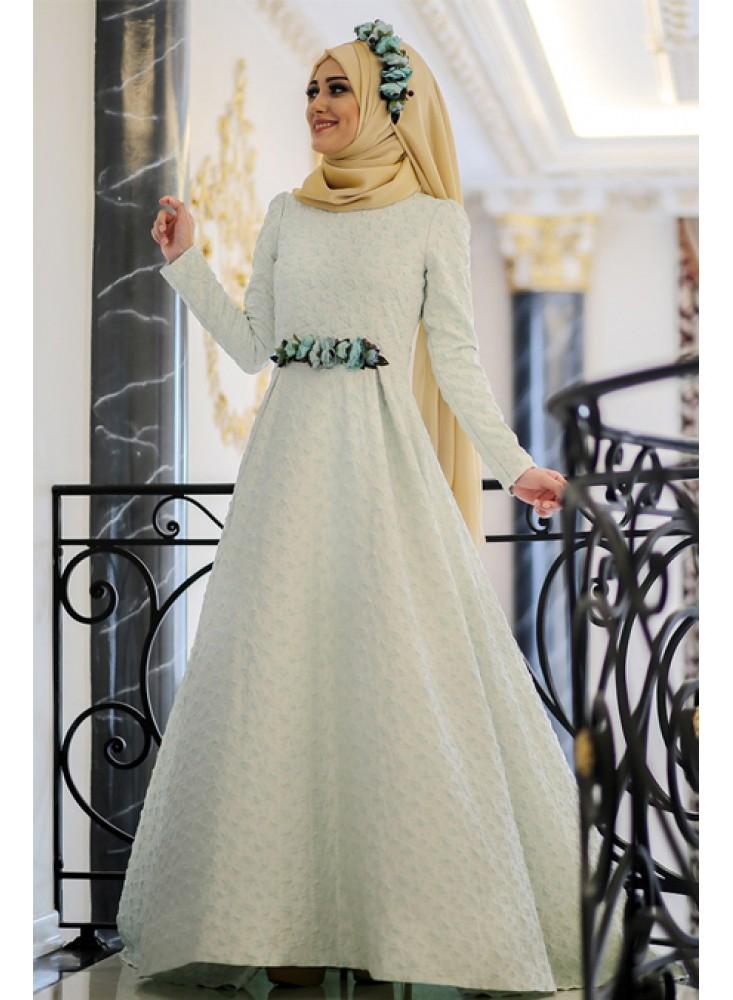 En Sik Tesettur Nikah Abiye Elbise Modelleri-elsa-abiye-mint-minel-ask