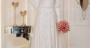 En Sik Tesettur Nikah Abiye Elbise Modelleri ikbal abiye ekru pinar sems e1527855536461