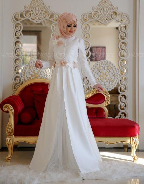 En Sik Tesettur Nikah Abiye Elbise Modelleri-ola-abiye-ekru-minel-ask