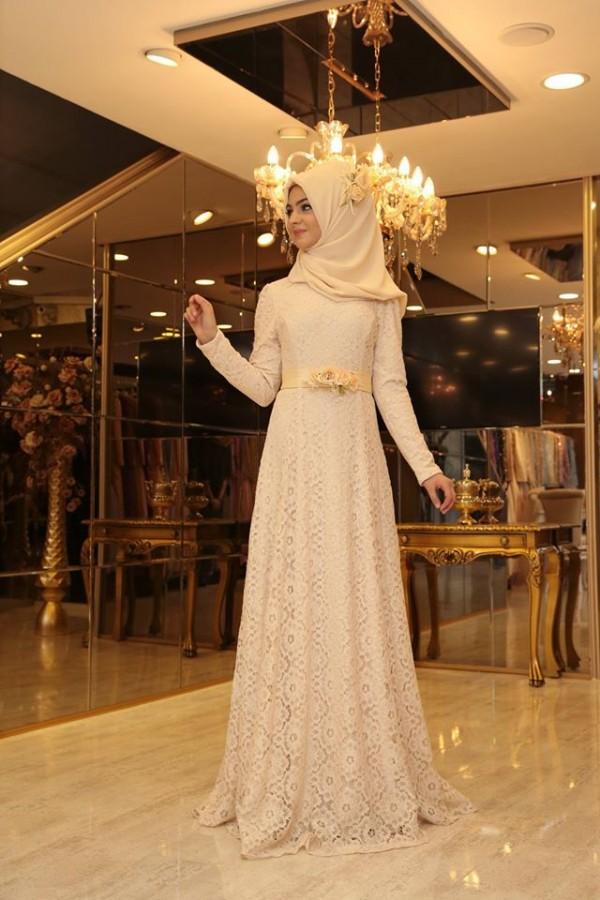 En Sik Tesettur Nikah Abiye Elbise Modelleri