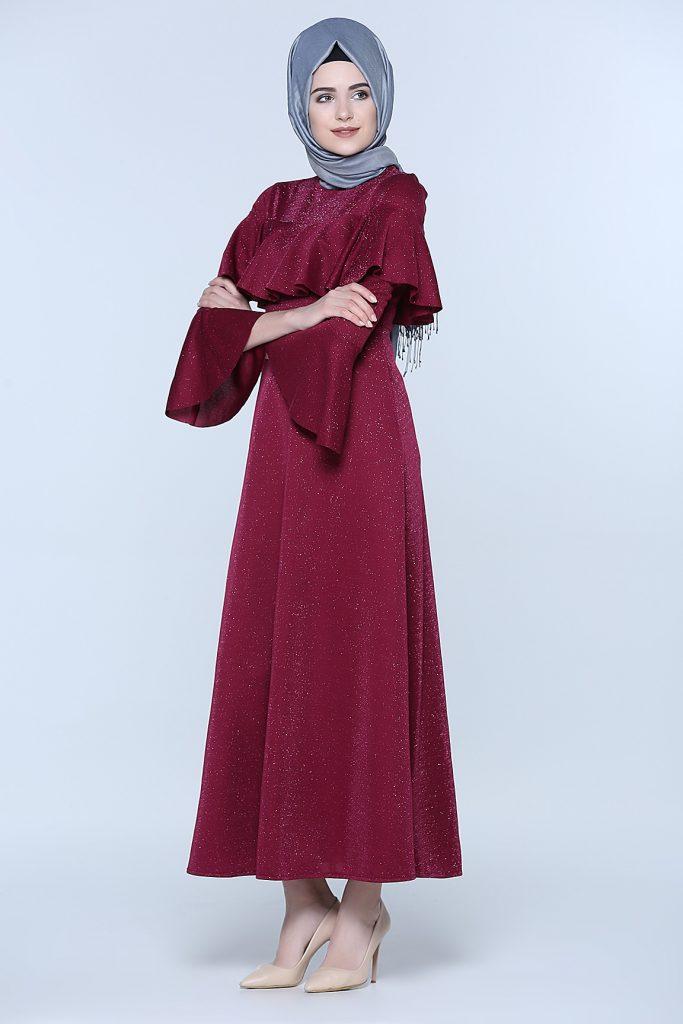 En Sik Tozlu.com Tesettur Abiye Elbise Modelleri 9