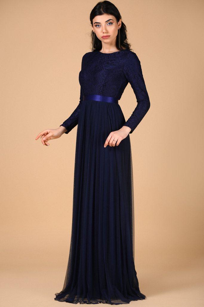 En Ucuz Patirti.com Tesettur Abiye Elbise Modelleri-dantelli-pileli