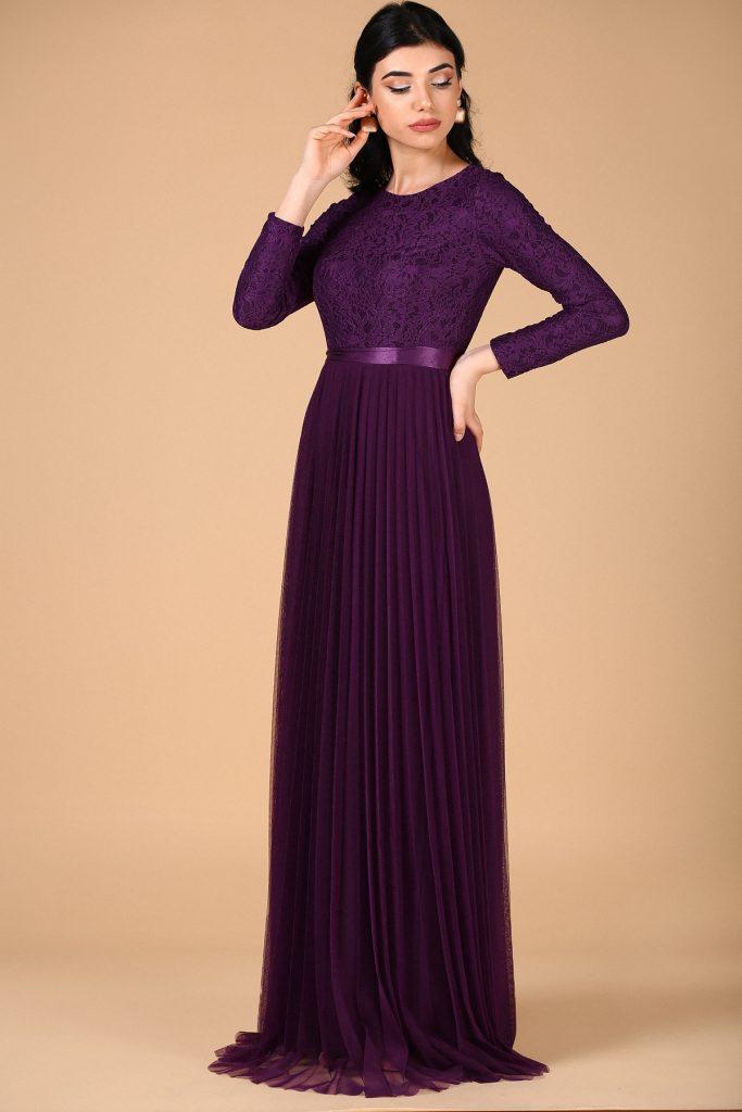 En Ucuz Patirti.com Tesettur Abiye Elbise Modelleri-dantelli-pileli-elb