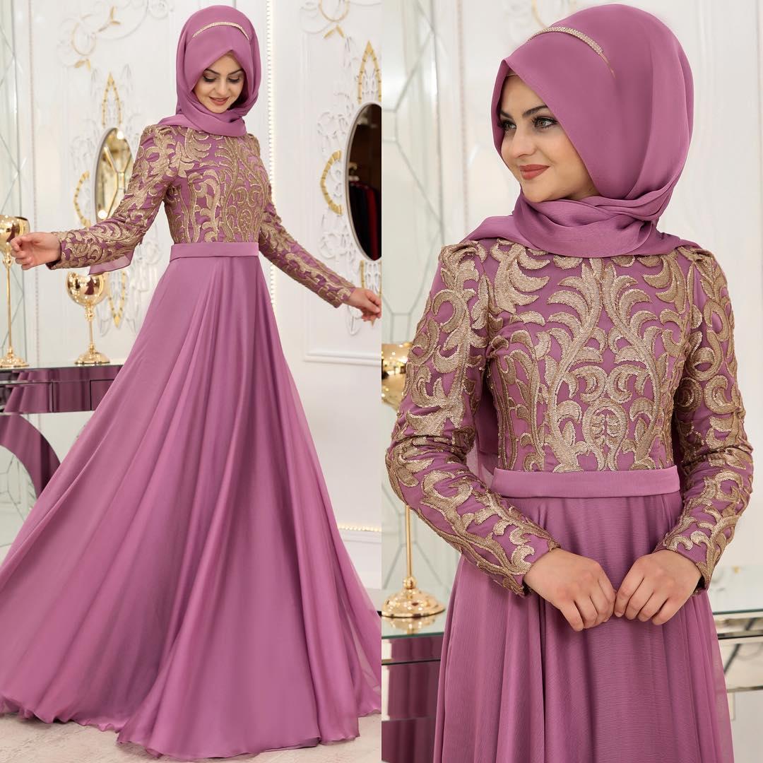 Instagram Tesettur Abiye Elbise Modelleri 7