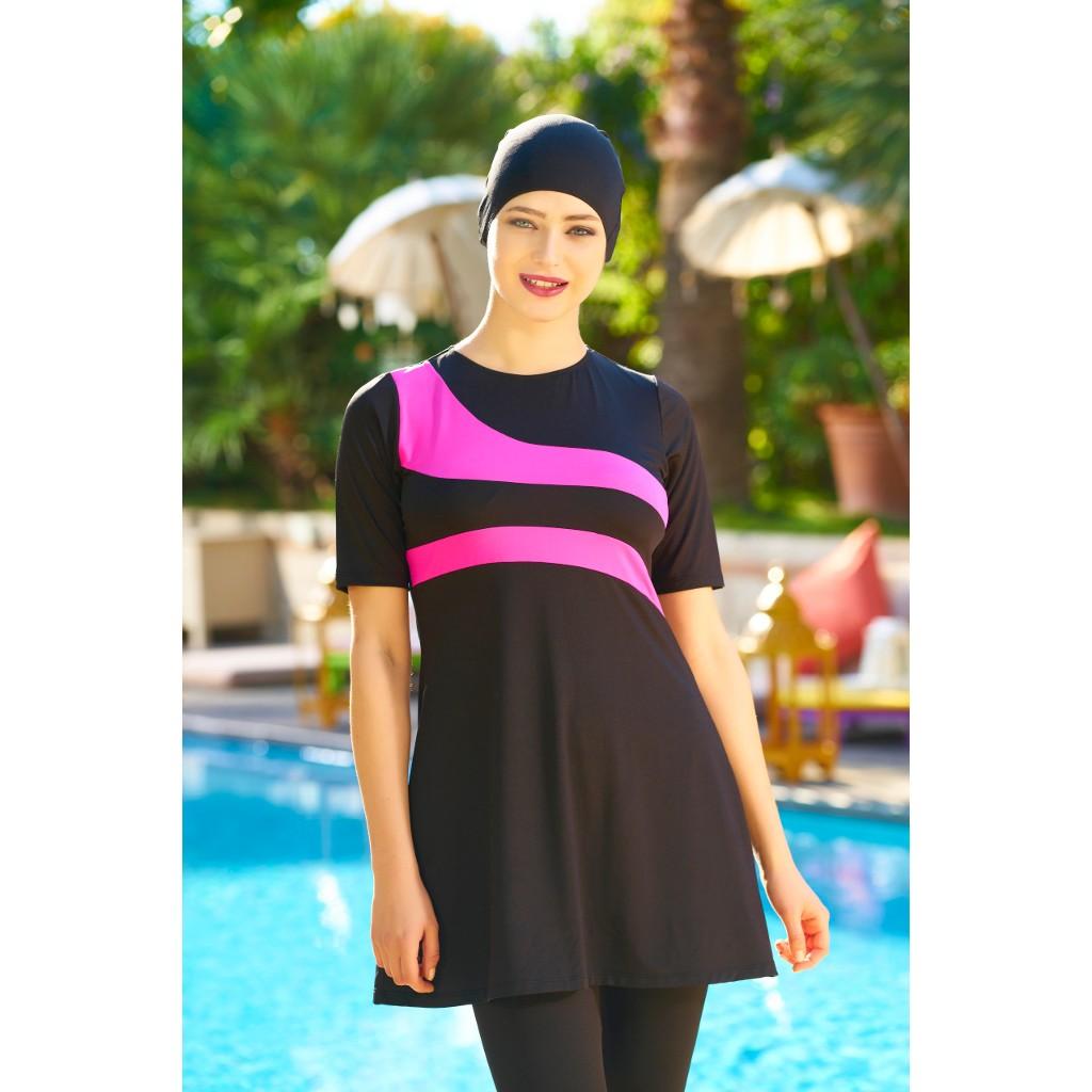 N11.com Tesettur Mayo Hasema Modelleri Yarim Kol Taytli Tesettur Mayo