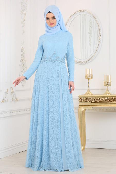 indirimli Tesettur Abiye Elbise Modelleri 2