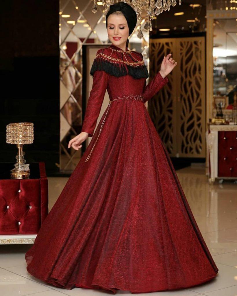 indirimli Tesettur Abiye Elbise Modelleri