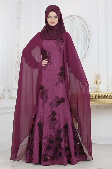 indirimli Tesettur Abiye Elbise Modelleri-uc-boyut-cicekli-murdum