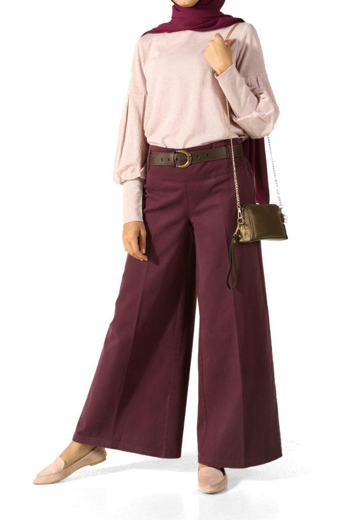 en-sik-tesettur-bayan-pantolon-modelleri-bol-paca-korsajli-pantolon
