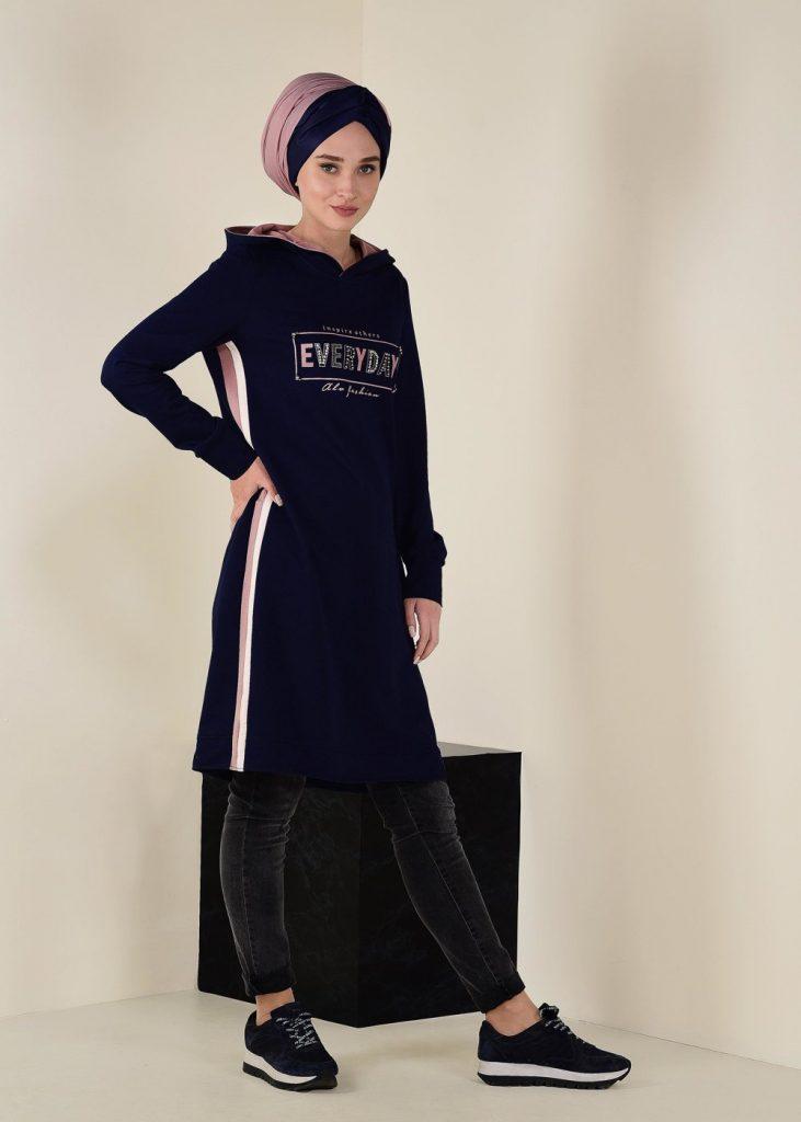 2018 Son Bahar Tesettur Giyim Trendi-esofman-tunik
