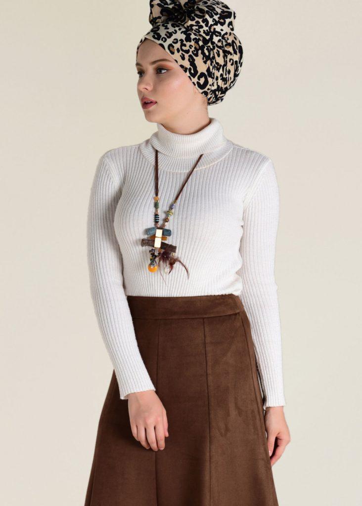 2018 Son Bahar Tesettur Giyim Trendi-heavy-suet-etek-