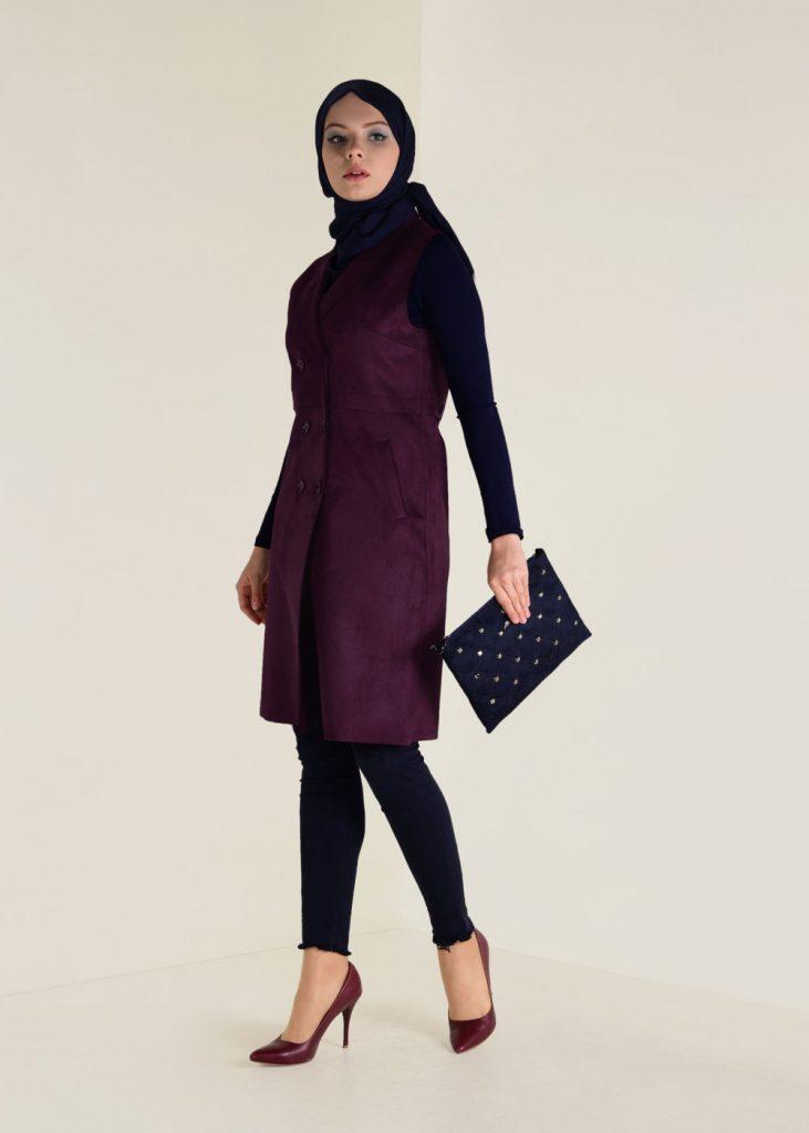 2018 Son Bahar Tesettur Giyim Trendi--heavy-suet-yelek