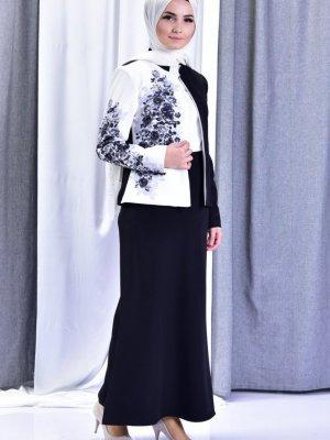 2019 Modanisa Yeni Sezon Tesettur Giyim Modelleri sefamerve_siyah_takim_avizyon