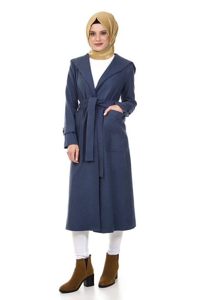 Tesettur Giyim Online Satis Siteleri kemerli-kase-kap-indigo-white-friday-klosh-kap