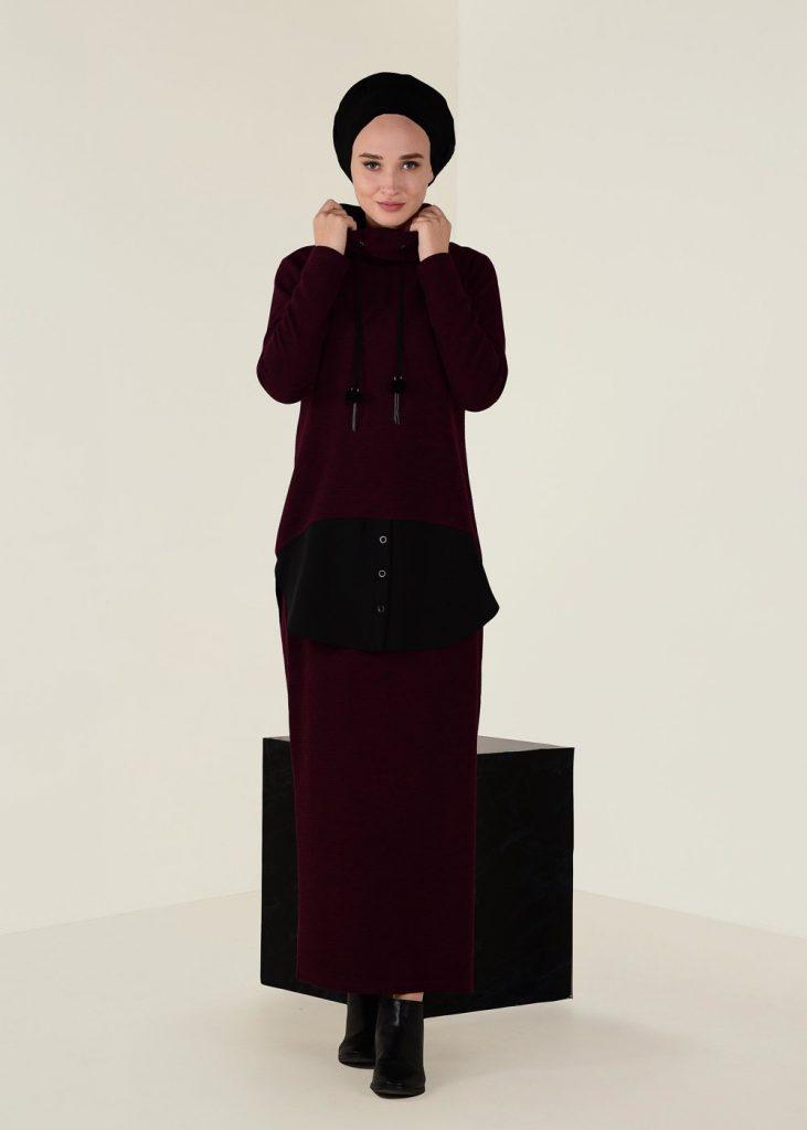 Tesettur Giyimde Almanya Online Shop-new-angora-2li-etekli-takim