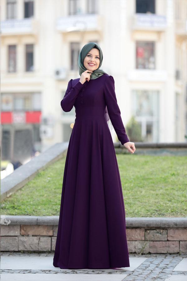 Ucuz Tesettur Giyim Alis Veris Siteleri-esma-karadag-bonita-elbise-mor