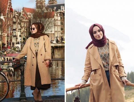 2019 kis tesettur modelleri1 - 2019 Kış Tesettür Modelleri ve Giyim Trendi