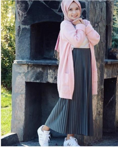 2019 kis tesettur modelleri10 - 2019 Kış Tesettür Modelleri ve Giyim Trendi