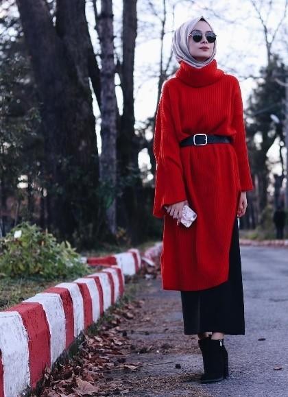 2019 kis tesettur modelleri13 - 2019 Kış Tesettür Modelleri ve Giyim Trendi
