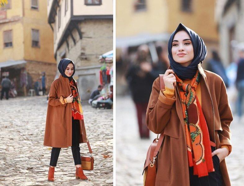 2019 kis tesettur modelleri2 - 2019 Kış Tesettür Modelleri ve Giyim Trendi