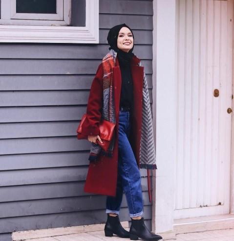 2019 kis tesettur modelleri8 - 2019 Kış Tesettür Modelleri ve Giyim Trendi