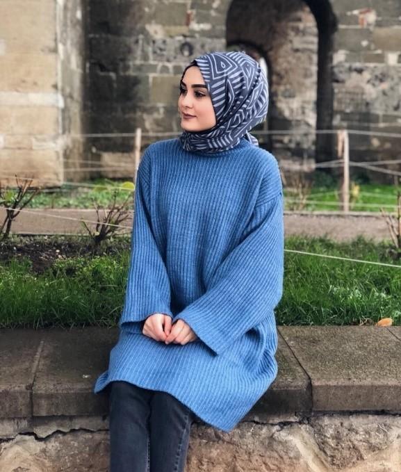 Tesettür Giyimin Kurtarıcısı Kazak Tunikler 2 - Tesettür Giyimin Kurtarıcısı Kazak Tunikler